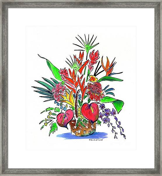 Tropical Basket Framed Print