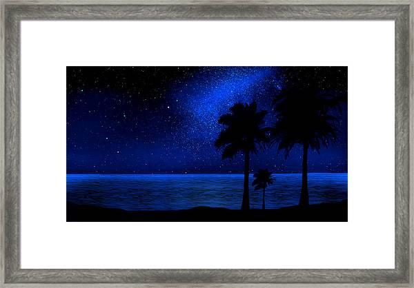 Tropical Beach Wall Mural Framed Print