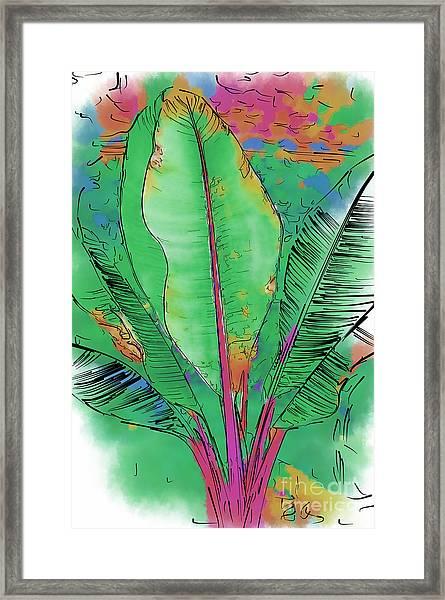Tropical Foliage Framed Print