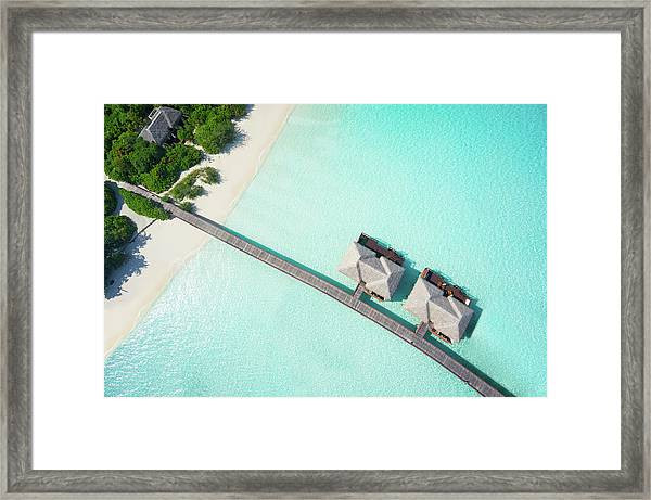 Tropical Hideaway From Above Framed Print