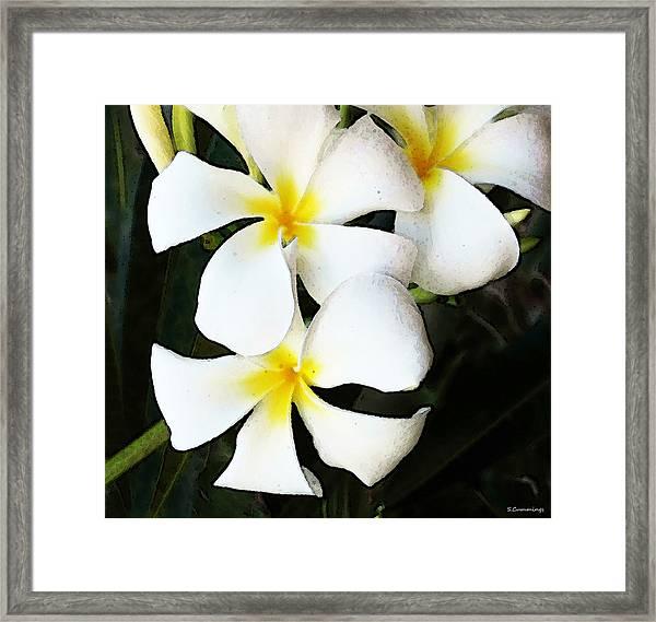 Tropical Life - Flower Painting Framed Print
