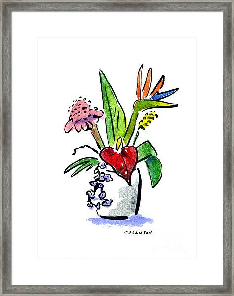 Tropical Mix Framed Print