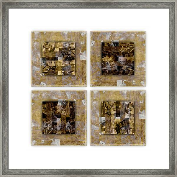 Tropical Panel Four Up Framed Print