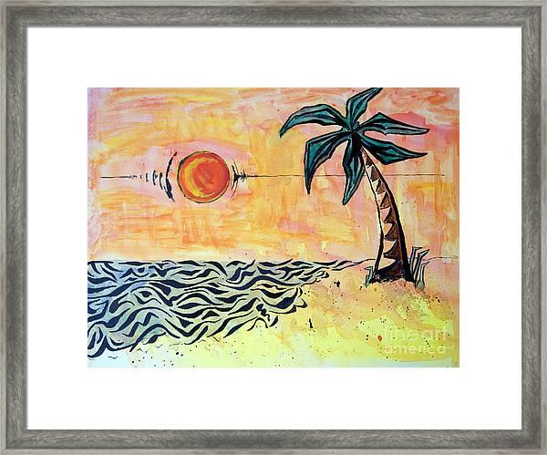 Tropical Tribal Framed Print