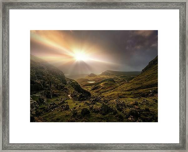 Trotternish Ridge Light #3 Framed Print