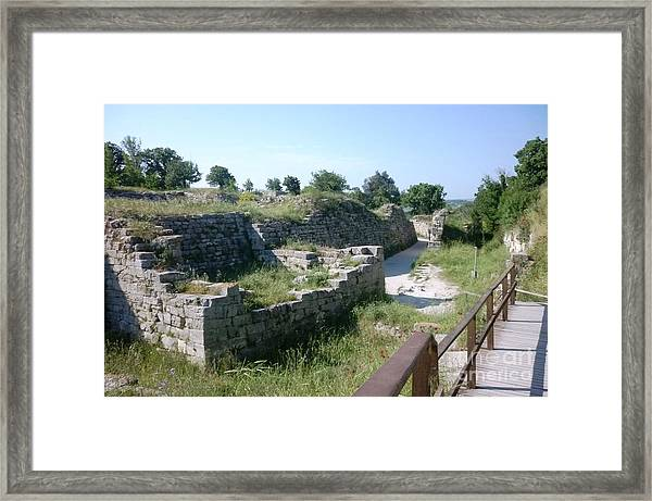 Troy City Walls Framed Print