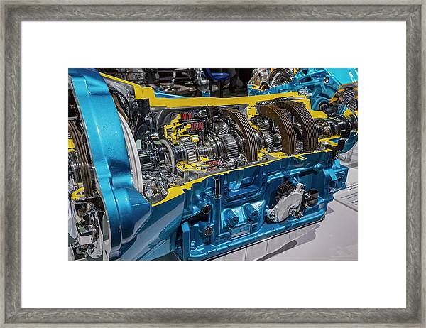 Truck Automatic Transmission Framed Print by Jim West/science Photo Library