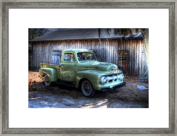 Truck By The Barn Framed Print