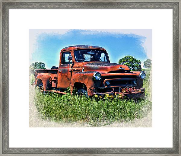 Framed Print featuring the photograph Truck In The Grass by William Havle