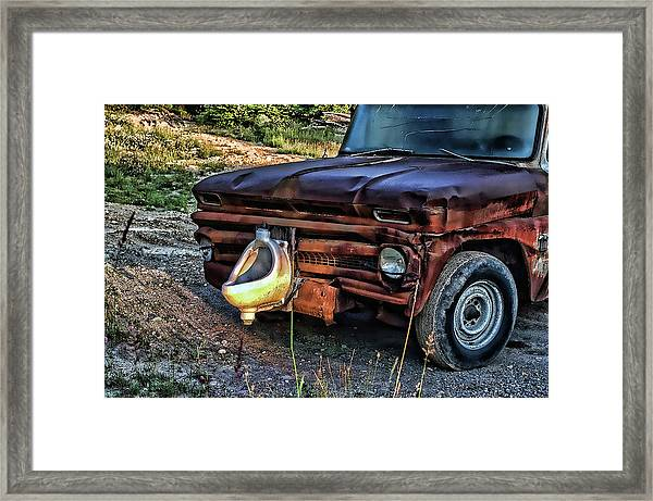 Truck With Benefits Framed Print