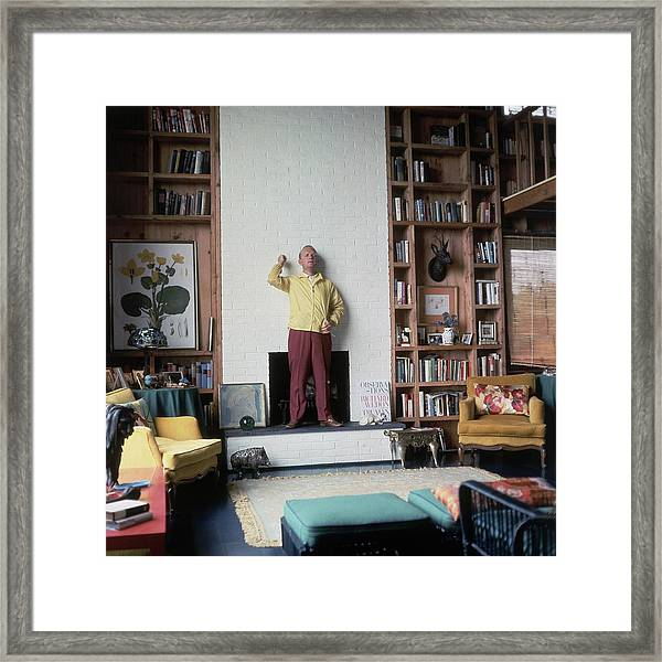 Truman Capote At Home Framed Print