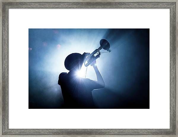 Trumpet Player Framed Print