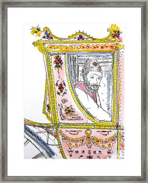 Tsar In Carriage Framed Print