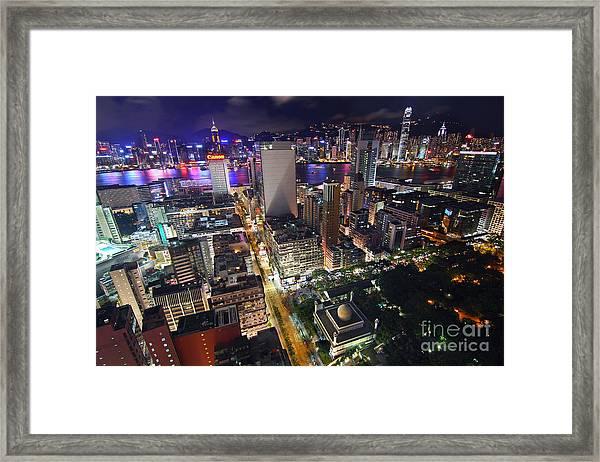 Tsim Sha Tsui In Hong Kong Framed Print by Lars Ruecker