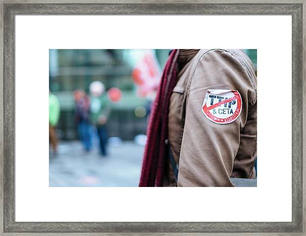 Ttip And Ceta Protest Framed Print