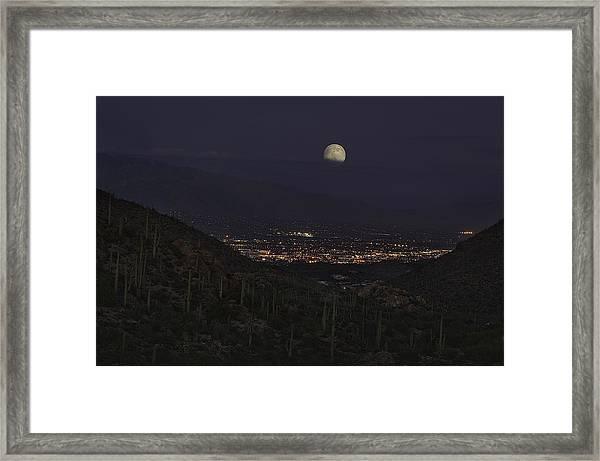 Tucson At Dusk Framed Print