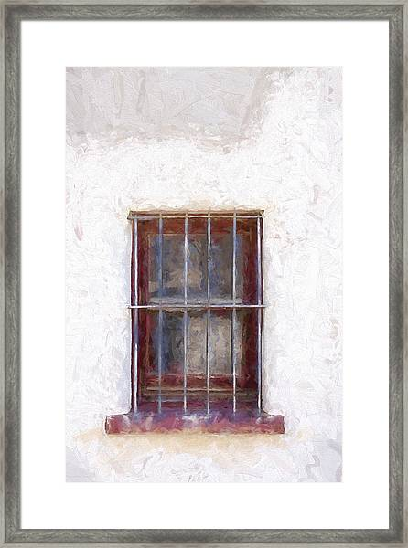 Tucson Barrio Window Painterly Effect Framed Print