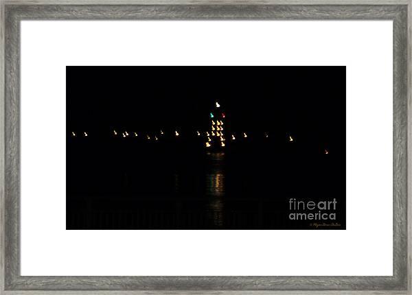 Tug Boat Light Painting Framed Print