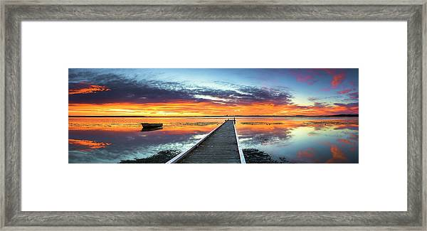 Tuggerah Lake Jetty Framed Print