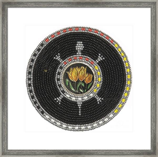 Tulip Turtle Framed Print