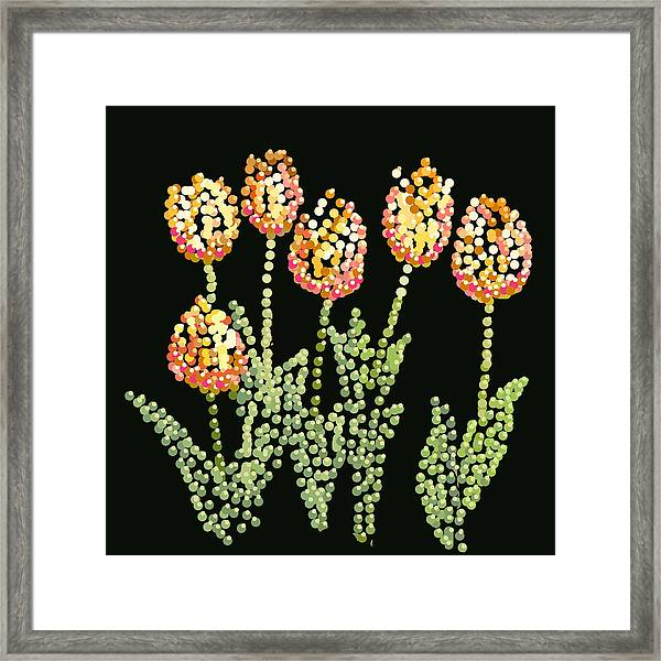 Tulips Bedazzled Framed Print