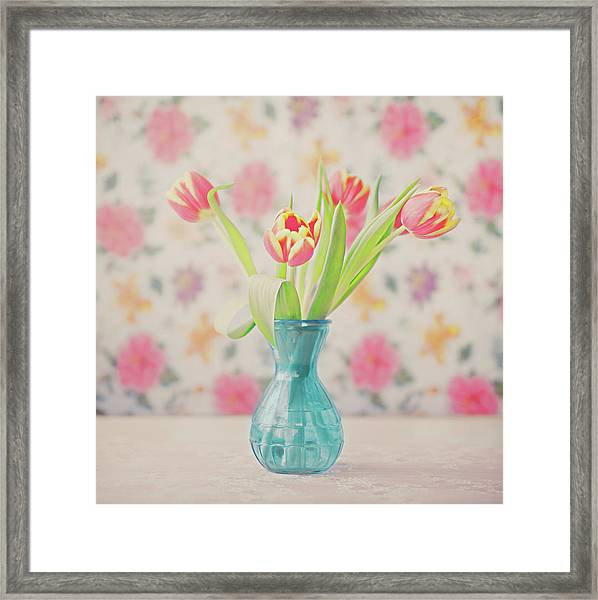 Tulips Framed Print by Julia Davila-lampe