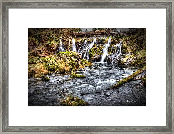 Framed Print featuring the photograph Tumwater Falls  by Barry Jones