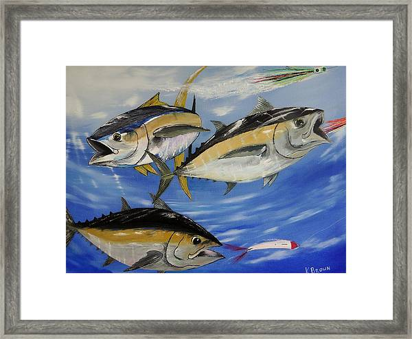 Tuna Attack Framed Print