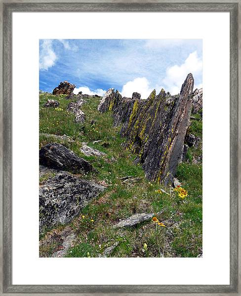 Tundra Rocks Framed Print