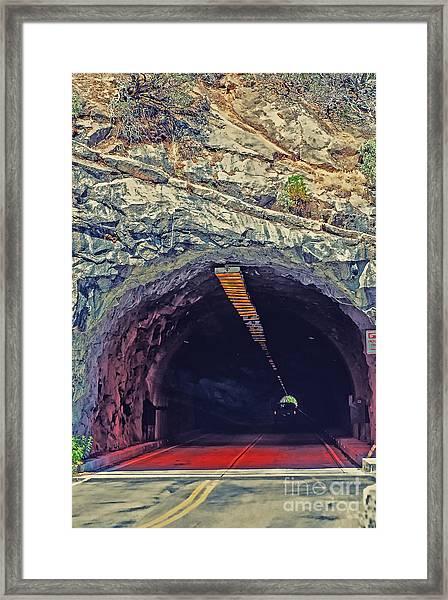 Tunnel At Yosemite Framed Print