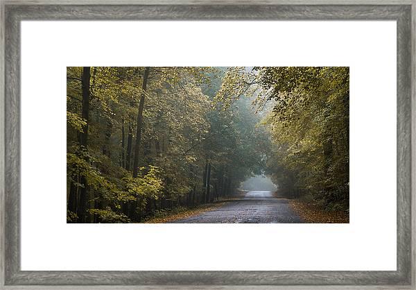 Tunnel Of Gold Framed Print