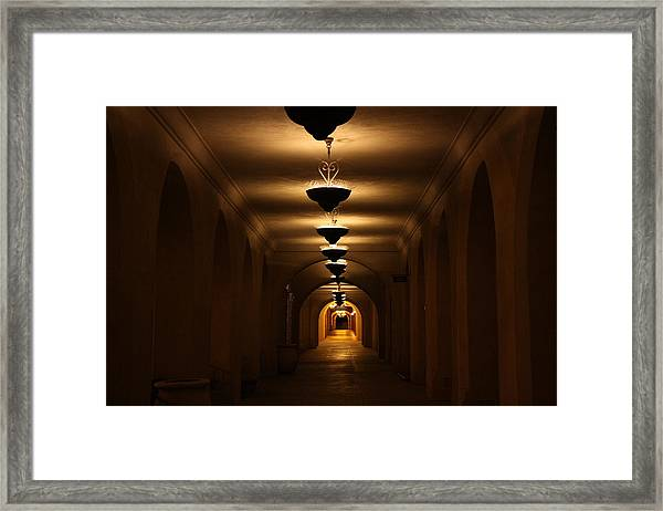 Tunnel Of Light Framed Print