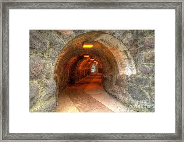 Tunnel Through It Framed Print