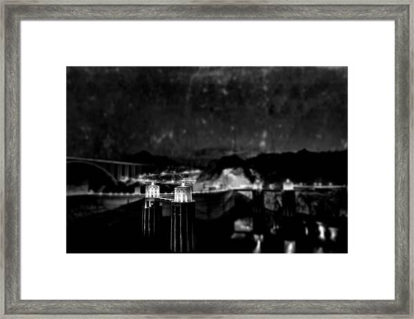 Tunnel Through Twilight Framed Print
