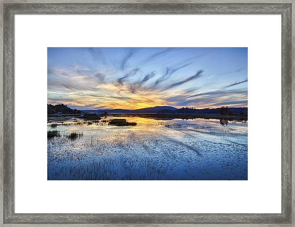 Tupper Lake Sunset Hdr 01 Framed Print