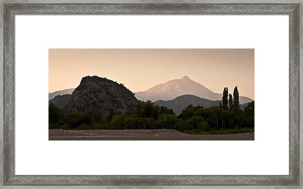 Turkish Mountains Framed Print