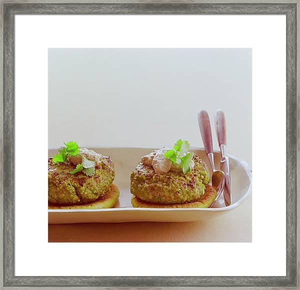 Turkish Style Lamb Burgers Framed Print