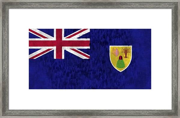 Turks And Caicos Islands Flag Framed Print