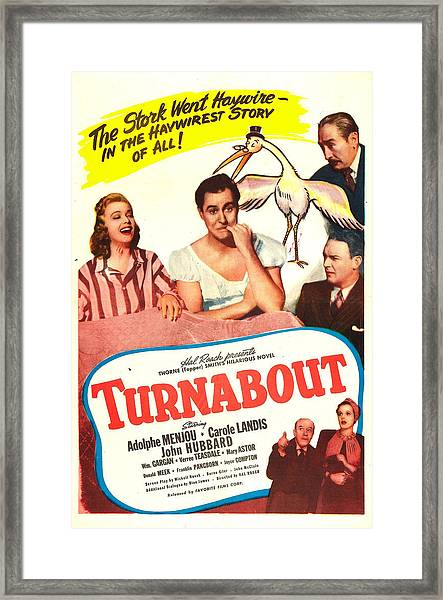 Turnabout, Us Poster, From Left Carole Framed Print