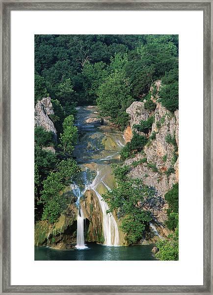 Turner Falls, Arbuckle Mountains Framed Print by John Elk