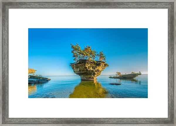 Turnip Rock Framed Print