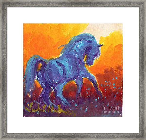 Turquois Stallion Framed Print