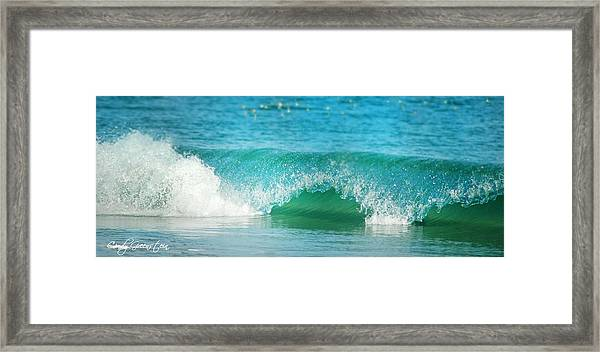 Turquois Waves  Framed Print
