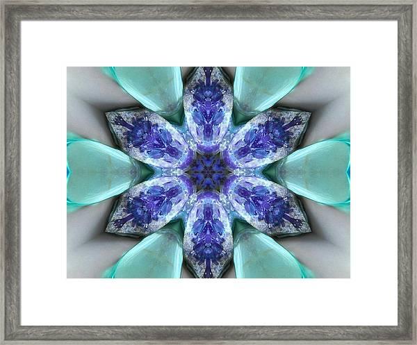Turquoise Amethyst Star Mandala Framed Print