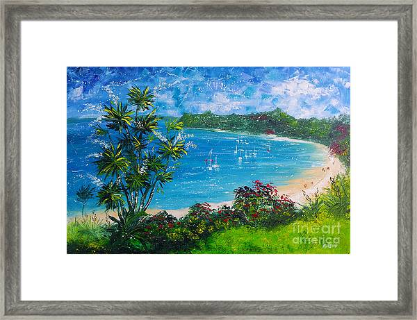 Turquoise Bay On A Sunny Day Framed Print
