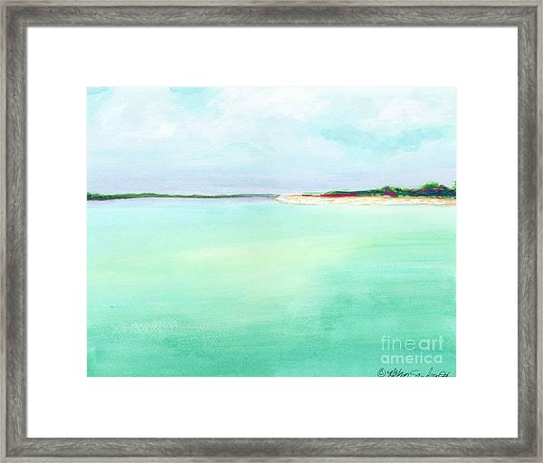 Turquoise Caribbean Beach Horizontal Framed Print