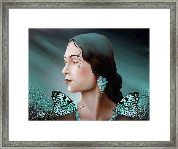 Turquoise  Poetry Framed Print