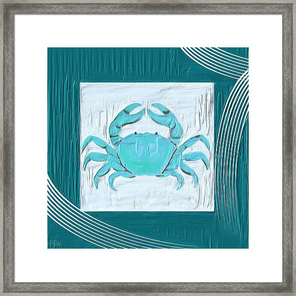 Turquoise Seashells Xix Framed Print