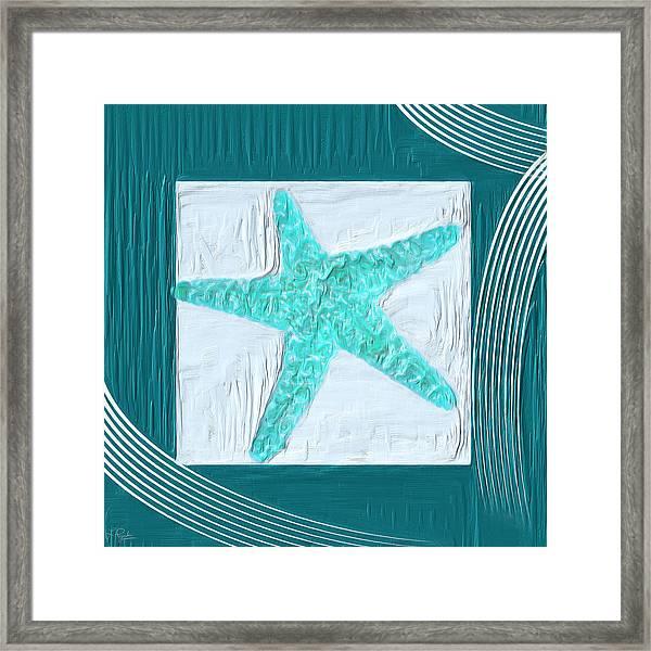 Turquoise Seashells Xvi Framed Print
