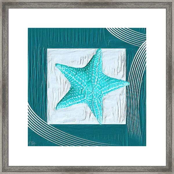 Turquoise Seashells Xviii Framed Print